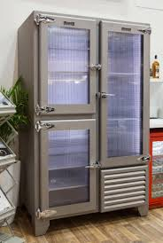 fridge freezer glass door retro refrigeration