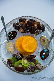 chocolate dipped fruit tasty fruit chocolate slices give me more