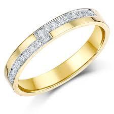 size 9 ring in uk 3mm 9 carat yellow gold diamond set 18pt wedding ring yellow
