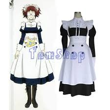 Maid Halloween Costume Aliexpress Buy Anime Black Butler Mey Rin Cosplay