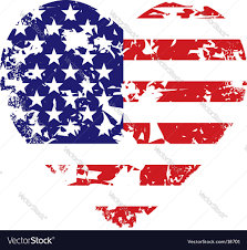 Us Flag Vector Free Download Grunge American Flag Heart Background Royalty Free Vector