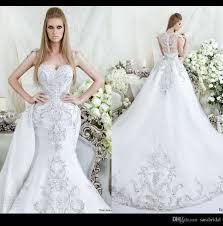 luxury mermaid wedding dresses luxury sparkle mermaid wedding dresses 2016 square neck
