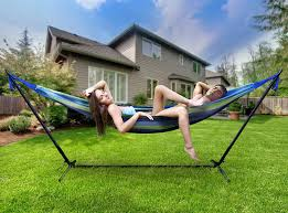 hammock bed amazon com sorbus double hammock with steel stand two person