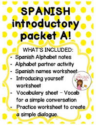 introductory packet a alphabet names greetings goodbyes