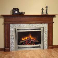 alluring fireplace design for home interior come with wooden legs
