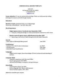 Reverse Chronological Resume Template Word Chronological Resume Layout Eliolera Com