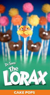 the lorax cake pops u2013 bakerella com