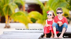 happy friendship day two cute children wallpaper cool wallpapers