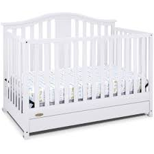 Crib White Convertible by Graco Solano 4 In 1 Convertible Crib With Drawer In White