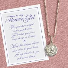 flower girl necklace images Flower girl necklace with thank you verse flower girl gifts jpg