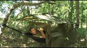 usmc recon jungle shelter with hammock youtube