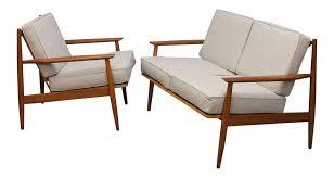 Mid Century Chair Baumritter Mid Century Chair U0026 Loveseat Set Chairish