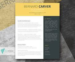 Resume Template Design Free Free Yellow Dark Grey Cv Template Modern Mustard Splash