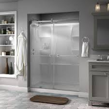 Shower Glass Doors Prices by Delta Silverton 60 In X 71 In Semi Frameless Contemporary