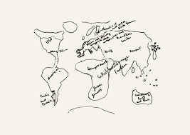world map image drawing the world map archive