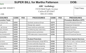 Superbill Template by Estimates And Superbills Financial And Billing Hearform
