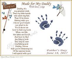 daddy teach me fishing personalized poem 8 x 10 art
