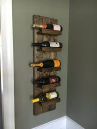 Spice Rack For Wall Mounting Rustic Wine Rack Spice Rack Wall Mounted Wine Bottle Holder