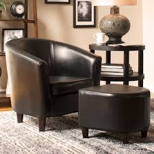 barrel chair with ottoman brilliant charlton home calville barrel chair and ottoman reviews