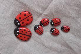 Ladybug Home Decor Ladybirds Pebble Painted Stone Gift Ideas Sea Stones
