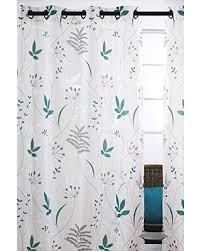 White Grey Curtains Great Deals On Blossom Sheer Leaf Burnout Grommet Curtain Panels