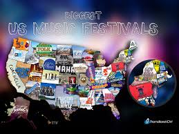 Nfl Usa Map by This Map Shows The Biggest Music Festivals In Each State