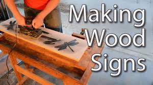 Used Furniture Sign Making Wood Signs With A Router Youtube