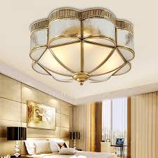 Bronze Ceiling Light Luxury Glass Shade Flush Mount Ceiling Lights