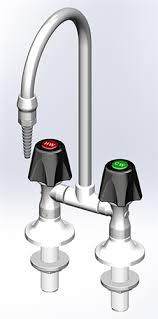 Laboratory Faucet Marquest Pvdf Lab Faucet Deck Mount W Duraline Control Cold