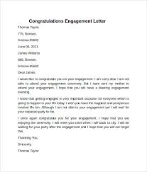 congratulate engagement sle engagement letter 9 free documents in pdf word