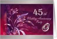45th wedding anniversary 45th anniversary invitations from greeting card universe