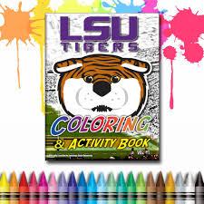 lsu tigers coloring u0026 activity book vol 1 u2013 team spirit store usa