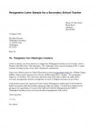 sample of resignation letter for teachers best resume gallery