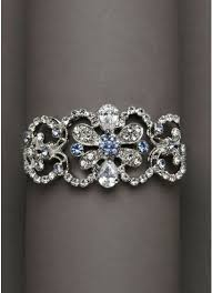 rhinestone cuff bracelet images Blue and silver rhinestone cuff bracelet david 39 s bridal