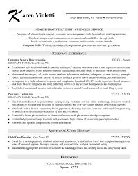 Resume Template Executive Assistant Customer Service Experience Resume Resume Template And