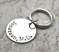 graduation keychain personalized sted sterling silver keychain sted