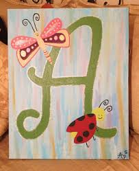 Best Canvas Ideas For Girls Images On Pinterest Canvas Art - Canvas art for kids rooms