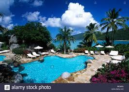 little dix bay resort on virgin gorda british virgin islands stock