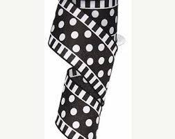black and white polka dot ribbon polka dot ribbon etsy