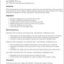 100 bartender resume objective on resume examples examples of a