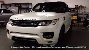 white range rover sport 2014 range rover sport wrapped in satin pearl white by dbx