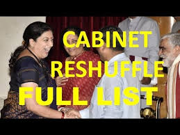 New Cabinet India Cabinet Reshuffle India Full List Of New Ministers Major