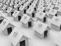 real estate concept group simple houses u2014 stock photo