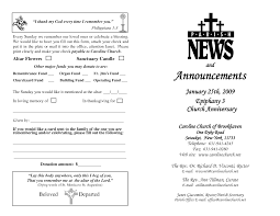 thanksgiving program sample 6 best images of sample church program free sample church