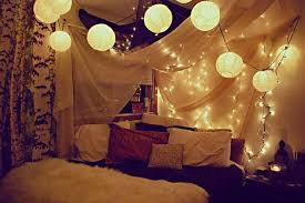 interior design idea add christmas lights fairy lights to your bedroom