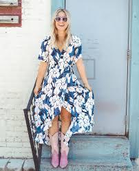 floral dress cowboy boots lmp collections