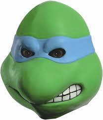 Leonardo Ninja Turtle Halloween Costume Turtles Leonardo Head Latex Costume Mask