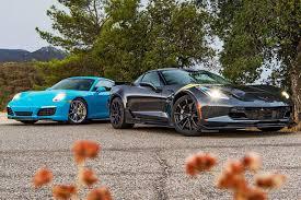 porsche 911 vs corvette a 2017 corvette grand sport or a porsche 911 s you decide