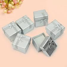 jewelry box favors bulk lot 24pcs silver square jewelry ring gift