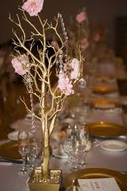 Wedding Centerpieces With Crystals by Gold Wedding Tree Branches For Decorations Gilding Tree
